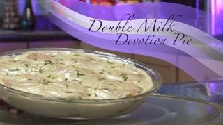 A Double Milk Devotion Pie is a traditional Mexican cuisine inspired by Silvia Lopez de Lara, mother of Krisstian de Lara