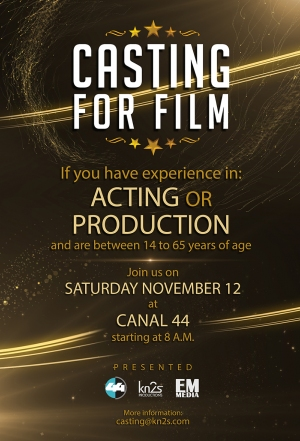 Casting Call Movie Poster November 12 2016