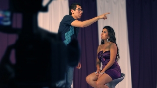 Krisstian directing Tania on set