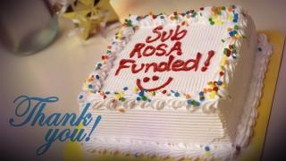 Sub Rosa Funded Cake