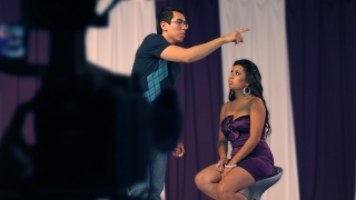 Krisstian directing Tania on set