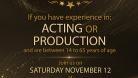 Casting Call Movie Poster November 12 2016