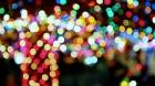 Christmas lights decorate several trees during this holiday season in Plaza de Los Lagartos in downtown El Paso, Texas.