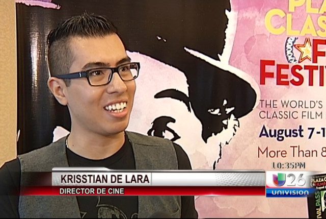 Krisstian Encourages Local Filmmakers on Univision