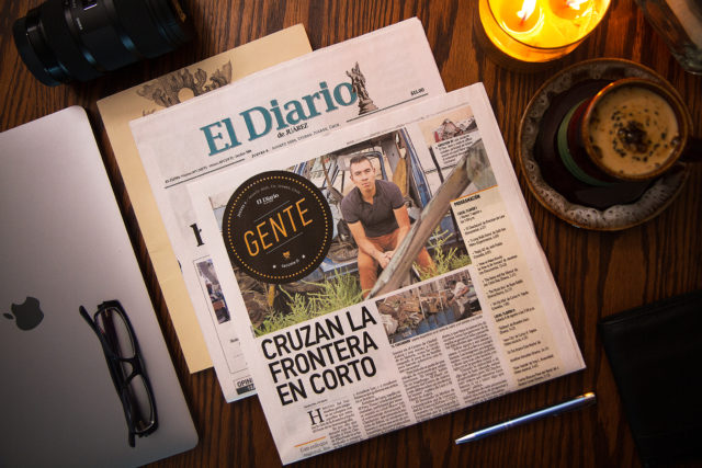 Krisstia de Lara en el Diario de Juarez Entertainment Section Gente