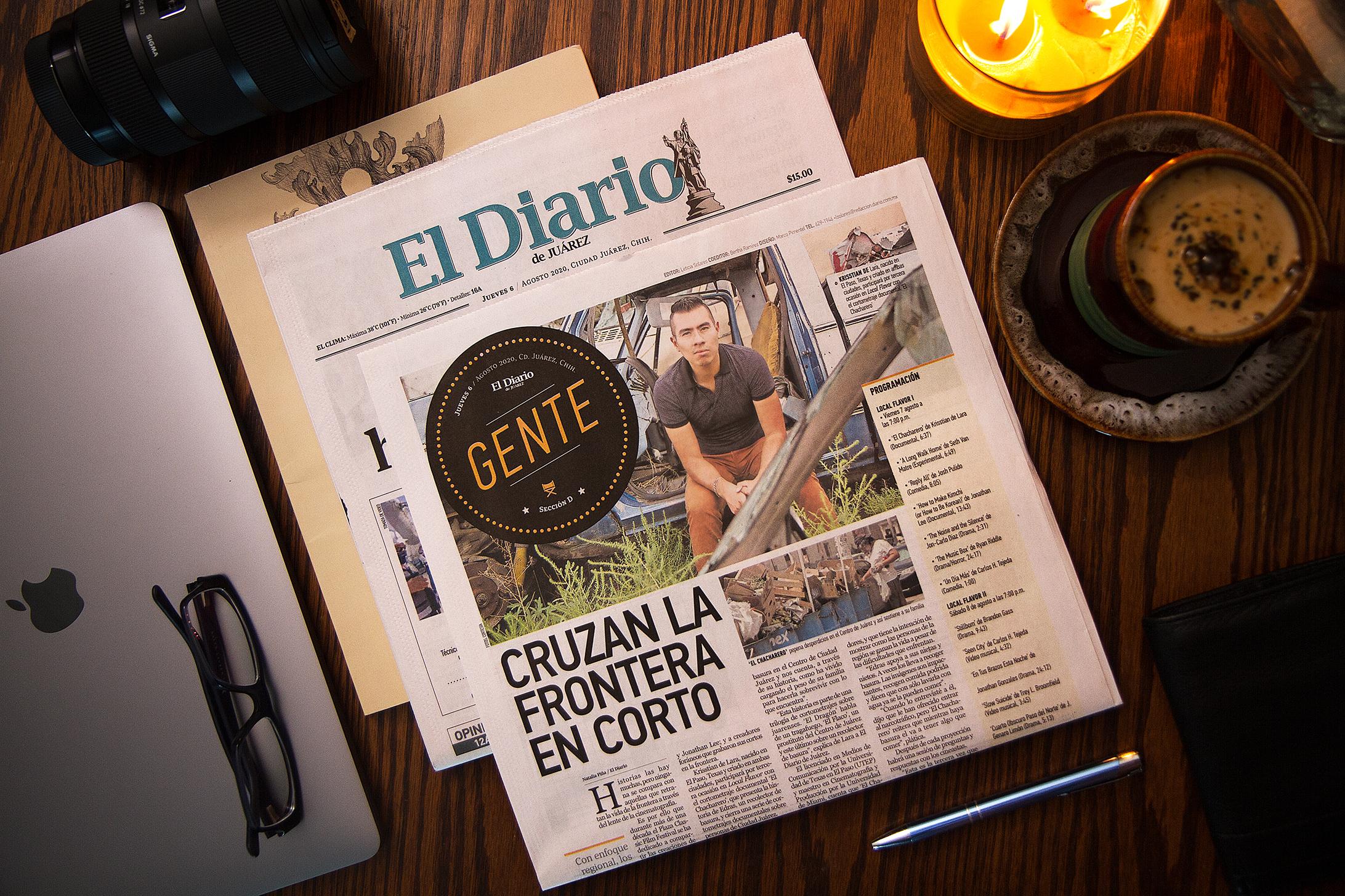 Krisstian de Lara gets featured on El Diario de Juárez' entertainment section