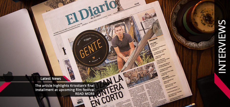 Krisstian de Lara Featured on El Diario de Juarez Entertainment Section for El Chácharero
